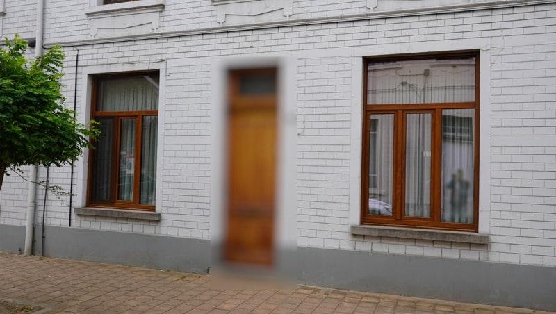 Realisatie houten ramen en deuren met eiken uitvoering te Vilvoorde